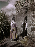 Two Young Kids Play Amid the Sugar Cane Photographic Print by Wilhelm Tobien