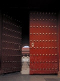Large Doors Found at the Entry Way to the Forbidden City in China Photographic Print by  xPacifica