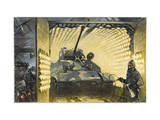 Freshly Painted Tank Emerges Dry from an Infrared Tunnel Photographic Print by Thorton Oakley