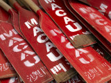 Stacked Oars Near Dragon Boats Ready for Use by Macau Team Members Photographic Print by  xPacifica