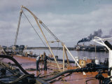 Oil Tankers and Barges Leave Texas for Mississippi Ports Photographic Print by B. Anthony Stewart