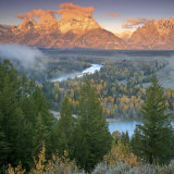 Early Morning on the Snake River, Wyoming Photographic Print by Drew Rush