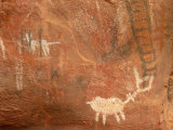 Rock Art Graces the Walls of Indian Ruins Outside Sedona, Arizona Photographic Print by Charles Kogod