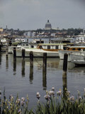Boats Line the Docks of Annapolis, Maryland Photographic Print by W. Robert Moore