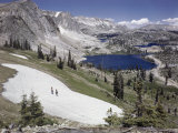Snow Is Present Even in August at Lake Marie Photographic Print by B. Anthony Stewart