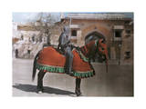 Warrior Is Ready for a Tournament in Jaipur Photographic Print by Franklin Price Knott