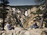 Vistors Sit on an Overlook to See All the Scenic Views Photographic Print by Edwin L. Wisherd