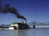 Old-Fashioned Riverboat Cruises the Ohio River Photographic Print by Volkmar K. Wentzel