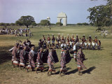 Naga Tribesmen Perform a Traditional Dance at a Delhi Festival Photographic Print by Volkmar K. Wentzel