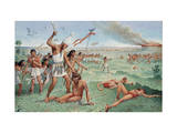 King of Upper Egypt Fights in Battle to Conquer Lower Egypt Giclee Print by H.M. Herget