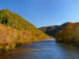 Fall Foliage Glows in the Afternoon Light over the French Broad River Photographic Print by  White & Petteway
