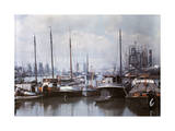 Netherland's First Seaport, Rotterdam, Is Filled with Ships Fotoprint av Wilhelm Tobien