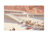Priests Carry Image of God Amun in Procession from a Temple Giclee Print by H.M. Herget