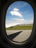View Out of the Window of an Airplane Leaving the Hong Kong Airport Photographic Print by  xPacifica