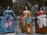 These St. Augustine Maids of Honor Dress in Costumes of Old Spain Photographic Print by Clifton R. Adams