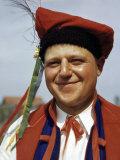 Portrait of an Onion Farmer, a Descendant of Polish Immigrants Photographic Print by Volkmar K. Wentzel
