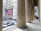 Wall Street and the New York Stock Exchange from Federal Hall Photographic Print by  xPacifica