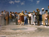 Visitors Gather around Beach Spring, Which Can Become a Geyser Photographic Print by Edwin L. Wisherd