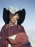 Portrait of a Former Queen of Ladakh Photographic Print by Volkmar K. Wentzel