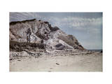 People Enjoy the View from Gay Head Cliffs Photographic Print by Clifton R. Adams