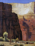 This Painting Shows a Havasupai Village Photographic Print by W. Langdon Kihn