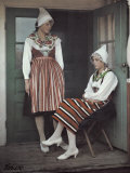 Difference in Stripes Tells of the Young Ladies' Parishes Photographic Print by Gustav Heurlin