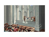 Provincial Governor Hears Legal Case in Basilica or Court of Law Giclee Print by H.M. Herget