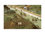 Scene of Rural Life on an Ancient Tunisian Farm Giclee Print by H.M. Herget
