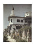 Woman Stands Outside of Queen Marie's Balcic Castle on the Seaside Photographic Print by Wilhelm Tobien