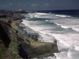 Coastline View from San Cristobal's Fort and El Morro's Fortress Photographic Print by Edwin L. Wisherd