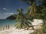 Hognest Beach Is a Popular Retreat with the Residents of Saint Thomas Photographic Print by Edwin L. Wisherd