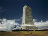 Tourists Visit Monument to Wilbur and Orville Wright Photographic Print by Jack Fletcher