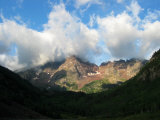 Morning Clouds Above Maroon Bells, White River National Forest Photographic Print by Charles Kogod