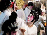 Chinese Opera Performers Prepare for the A-Ma Temple Festival Photographic Print by  xPacifica