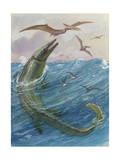 Mosasaurus Species Lived in Kansas, United States Fotodruck von Charles Knight