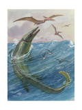 Mosasaurus Species Lived in Kansas, United States Photographic Print by Charles Knight