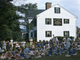 Orphans Picnic on Lawn Outside Daniel Webster's Childhood Home Photographic Print