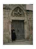 Woman Stands in Doorway That Once Gave Egress to a Venetian Palace Photographic Print by Wilhelm Tobien