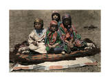 American Indian Children Pose on a Blanket Photographic Print by Edwin L. Wisherd
