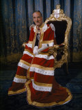 Lord Mayor of London Sits for a Portrait in His Coronation Robes Photographic Print by David Boyer