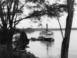 Ferry Arrives at a St. Mary&#39;s Port Where Colonist Once Disembarked Photographic Print by Edwin L. Wisherd