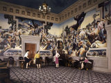 Murals by Thomas Hart Benton Adorn Walls of Missouri State Capitol Photographic Print by Joseph Baylor Roberts