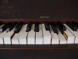 Keys on an Old Piano Show their Age as their Action Has Deteriorated Photographic Print by White & Petteway