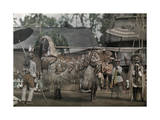 Balinese Performing their Ceremonial Lion Dance Photographic Print by Franklin Price Knott
