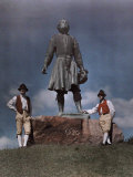 Two Dalarna Men Stand by Anders Zorn&#39;s Statue of Gustavus Vasa Photographic Print by Gustav Heurlin