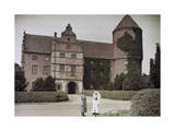 Two Women Stand Outside Skarhult Castle Photographic Print by Gustav Heurlin