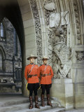 Canadian Mounted Police Guard the Doorway to the Parliament Building Photographic Print by Jack Fletcher