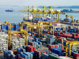 Overview of the Containers at the Port of Singapore Authority Photographic Print by  xPacifica