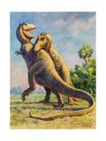 Tyrannosaurus Rex Could Grow to Be Twenty Feet Tall Photographic Print by Charles Knight