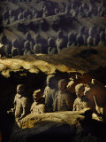 Morning Sun Shining on China&#39;s Great Terracotta Army Photographic Print by O. Louis Mazzatenta
